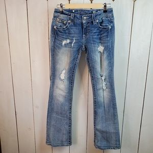 Miss Me Signature Bootcut Embellished Jeans, Sz 27